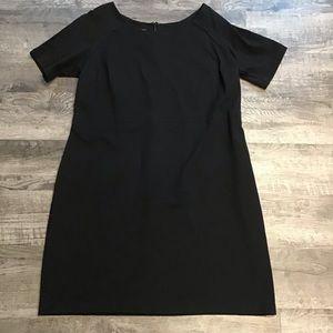 Talbots black ponte knit dress 14